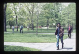 Ball State University students walking on campus