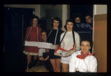 Student staff at L. A. Pittenger Student Center birthday party, 1957