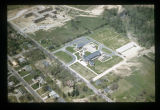 Ball State Teachers College and northwest Muncie aerial view