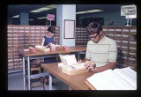 Ball State University Library card catalog room