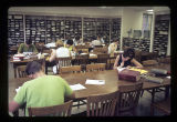 Ball State University Library periodical room and study table