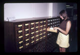 Ball State University Library library science card catalog