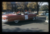 Ball State Teachers College homecoming parade V.I.P. car, 1956