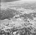 Ball State University and northwest Muncie aerial view, 1968