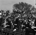 Ball State Teachers College Band watching Cardinals vs. St. Joseph's College Pumas football, 1962