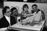 College of Architecture and Planning student shows members of the Bethel AME Church the model for...