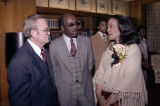 Coretta Scott King speaks with Jerry Anderson and Robert O. Foster