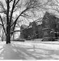 Ball State University campus snow scene