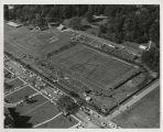 Aerial view of Ball State Teachers College football stadium
