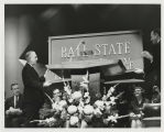 Ball State University Recognition Ceremony with Pres. John R. Emens changing sign