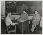 Ball State Teachers College Army Specialized Training Program Capt. Booth with student