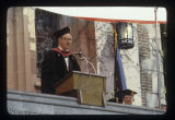 Richard W. Burkhardt at Ball State University spring commencement, 1979