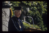 Pres. John J. Pruis at Ball State University spring commencement, 1976