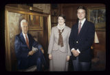 Pres. John J. Pruis family at portrait unveiling