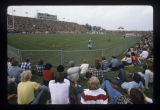 Ball State University Cardinals vs. Illinois State University Redbirds football stadium crowd, 1977