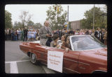 Red Skelton in Ball State University Homecoming parade, 1977