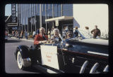 President and Mrs. Robert Bell in Ball State University Homecoming parade, 1981