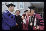 Senator Richard Lugar at Ball State University spring commencement, 1986