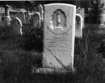 Cemeteries - Funerary Art, Tilghman W. Higman marker,- Bethel Church Cemetery - North of Albany