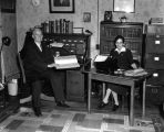 Horace G. and Electa C. Murphy in the Justice of the Peace Office
