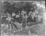 Cary Fenwick,-(Friends Making Casket)- Buried in Oak Log in Saunders Cemetery (See Dick Green, Our...
