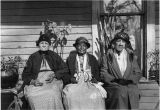 Former Slaves (left to right: Mrs. Mary Elizabeth Jackson (age 103)-- Mrs. Betty Gunn (age 103)-...