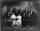 Cross Roads Band.- Top: John Cromer, Roy Mowrey, Sam Cromer(--- Frank Mowrey, Oran Cromer; First...