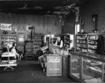 E. E. Lake Groceries, Interior, employee and customer